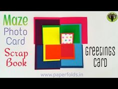 """Craft Tutorial to make """"Maze Photo Card 