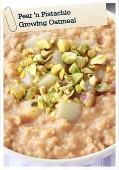 Pear 'n Pistachio Growing Oatmeal is an exquisite breakfast meal that ...