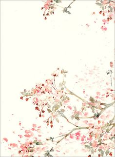 Pink white cream illustrated watercolour blossoms floral iphone wallpaper p Desktop Background Tumblr, Phone Backgrounds, Wallpaper Backgrounds, Simple Iphone Wallpaper, Perfect Wallpaper, Flower Wallpaper, Mobile Wallpaper, Pattern Wallpaper, Watercolor Wallpaper