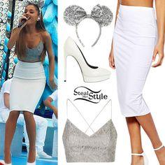 ariana grande rok | skirt ariana grande white pencil skirt tank top