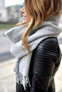 idée look perfecto écharpe