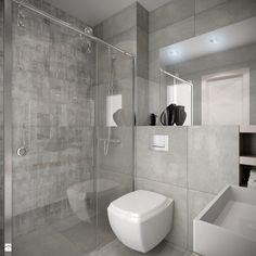 widok na WC i wnękę prysznicową - zdjęcie od Wnętrzowe Love - Łazienka - Styl Minimalistyczny - Wnętrzowe Love