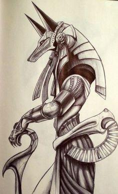 Anubis, the Egyptian god of embalming