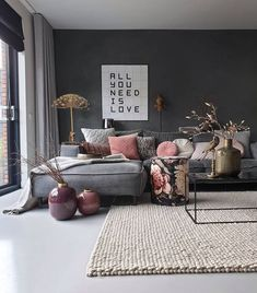in Ihrem Interieur - . - Farbe in Ihrem Interieur - . -Farbe in Ihrem Interieur - . - living room decor, home design Marvelous Bedroom Decoration Ideas comfortable and warm living room ideas you will definitely like 18 Living Room Trends, Living Room Colors, Cozy Living Rooms, Home Living Room, Interior Design Living Room, Living Room Designs, Living Room Decor, Color Interior, Interior Rugs