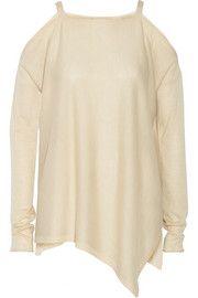 Cutout fine-knit cashmere sweater
