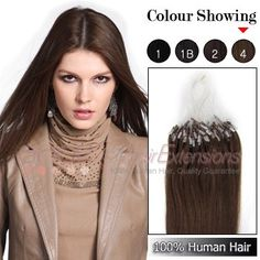 Micro Loop Ring Premium Remy Human Hair Extensions