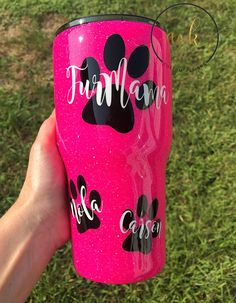Glitter Tumbler, Epoxy Tumbler, Graduation Gift, Monogram Yeti, Custom Yeti, DogMom, FurMama, Dog Mom, Gift for Dog lover, Cat Lover, Paw