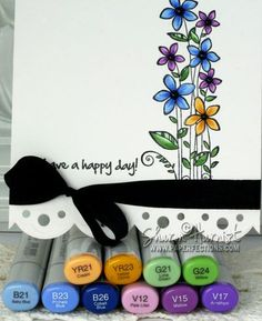 Gina K designs One in A million stamp colored with copics by Sharon Harnist