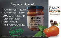Sugo alle olive nere #neronitradizioneitaliana #ciboitaliano #madeinitaly #sughi #olivenere