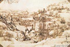 Leonardo da Vinci - Landscape, 1473