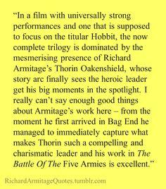 Richard Armitage Quote