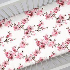 Carousel Designs Pink Cherry Blossom Crib Sheet Carousel ...