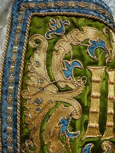 St John's Epping. This is a modern repair of a Chasuble with great detail shots of the stitching.