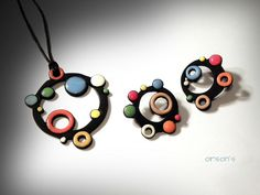 Orson's World, spotty set - polymer clay