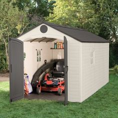 Found it at Wayfair - 8 Ft. W x 15 Ft. D Plastic Storage Shed