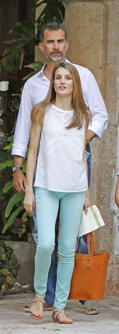 King Felipe and Queen Letizia. #summer #style #casual