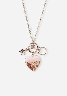 Discover our selection of girls' necklaces. From cute friendship necklaces, to charm necklaces, to initial necklaces - find her favorites & shop Justice today! Cute Necklace, Cool Necklaces, Girls Necklaces, Locket Necklace, Initial Necklace, Pendant Necklace, Charm Necklaces, Makeup Kit For Kids, Unicorn Room Decor