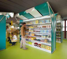 matali crasset + praline: mini M grocery shop, toulouse designboom