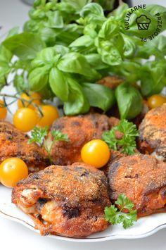 Udka po kujawsku- soczyste mięso i chrupiąca skórka - najlepszy przepis! Tandoori Chicken, Salmon Burgers, Dinner Recipes, Tasty, Meat, Baking, Ethnic Recipes, Food, Impreza