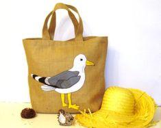 African flowers tote bag handmade jute tote handbag by Apopsis