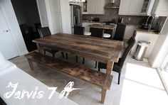 Gray Reclaimed Harvest Table