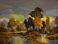 """Contemporary Painting - """"Cottonwood by the Creek"""" (Original Art from Mac…"""