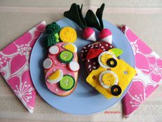 Felt Food Sandwich Set pretend play food toy kitchen by decocarin