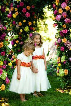 Niñas de las flores