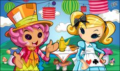 Wacky Hatter and Alice in Lalaloopsyland by *thweatted on deviantART