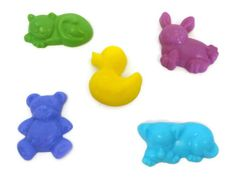 Kids Soap Set  Nursery Stuffed Animals Soap by squeakycleansoapco, $7.50