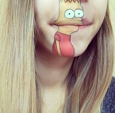 Bart Simpson Face Paint mouth