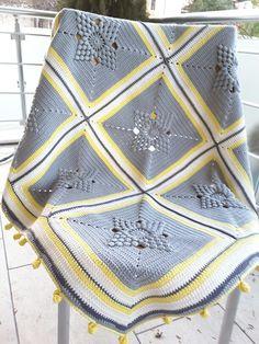 This Pin was discovered by HUZ Diy Crochet Patterns, Granny Square Crochet Pattern, Crochet Chart, Crochet Motif, Crochet Stitches, Crochet Projects, Crochet Blanket Tutorial, Easy Crochet Blanket, Crochet Home
