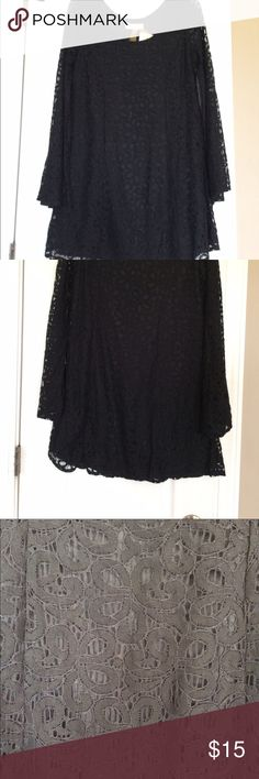Black lace long sleeve dress NWT! Never worn before. Supper cute for fall and winter. No lining on sleeves, but there is lining on rest Dresses Long Sleeve