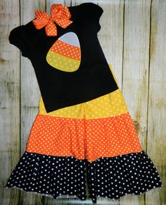 Candy Corn Halloween Applique Shirt