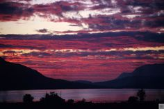 From our picture archives - sunset over Loch Broom in 2005 :)