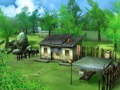 《仙剑奇侠传5》场景设计图 - Google Search Paladin, Golf Courses, Mansions, House Styles, Sword, Fairy, Chinese, Home Decor, Decoration Home