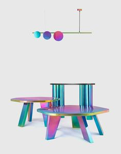 Magical lighting that plays with color from a young design studio based in Mumbai.