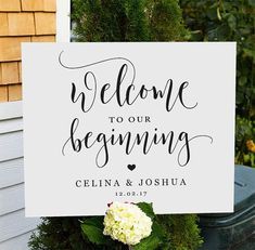 """INSTANT DOWNLOAD: Welcome to our Beginning Editable Pdf Sign WHATS INCLUDED? ---------------------------------- - File included: 3 x High quality Pdf file - Size: 8x10, 11x 14 and 16x 20 WHAT TO DO? : --------------------- - After payment is confirmed you will be taken to the download page, and an email will be sent to you with your download link. - Click """"Download"""", save the file to your computer. -Open PDF file in Acrobat Reader. -Edit the appropriate text fields. -print and trim. -No…"""