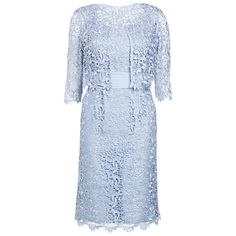 Gina Bacconi Lace Jacket and Dress blue Mother of the Bride Outfit