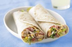 I cook this in the summer and it's amazing and easy! Santa Fe Chicken Salad Wrap recipe