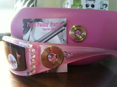 Fight Back 2 light Pink  50 caliber completed in Clear Crystal matching case