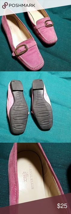 Pink suede AK Anne Klein  iflex Flats so cute iflex Shoes Flats & Loafers