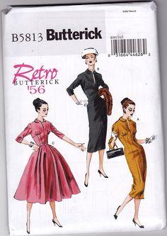 50s Dress Vintage Pattern Reprint Butterick 5813 by ZipZapKap