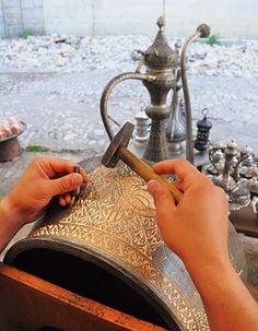 Bakır işleme (zenaat), Safranbolu'dan, Türkiye | Copper processing (craft), Safranbolu, Turkey