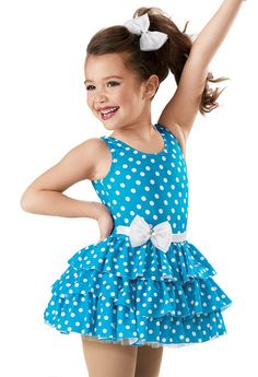 Dance Dresses for Recitals: Costumes l Weissman ( with puffed short sleeves and chrystals ) Baby Girl Dress Patterns, Little Girl Dresses, Baby Dress, Girls Dresses, Flower Girl Dresses, Dot Dress, Girls Dance Costumes, Jazz Costumes, Dance Outfits