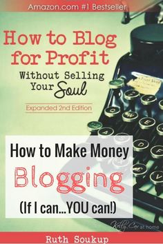Ever wondered how to make money blogging? Then you need to read Ruth Soukup's…