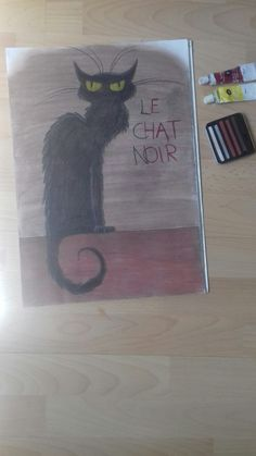 Le Chat Noir with pastels