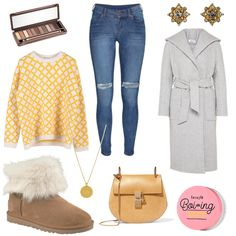 flache UGG Boots - #ootd #outfit #fashion #oneoutfitperday #fashionblogger #fashionbloggerde #frauenoutfit #herbstoutfit - Frauen Outfit Herbst Outfit Outfit des Tages Winter Outfit Benefit Blau Chloé denim Dr. Denim EDITED the label gelb Halskette Jeans Leder MALAIKARAISS Mantel Ohrring Ohrringe Pilgrim Schultertasche Skinny Stefanel Ugg Australia UGG Boot UGG Boots Urban Decay Veloursleder