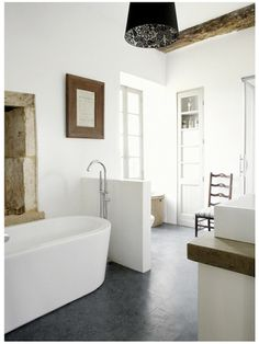bathroom; modern