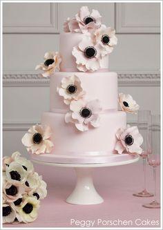 poppy cake in pink + black